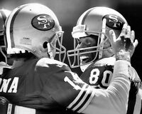 San Francisco 49ers JOE MONTANA & JERRY RICE Glossy 8x10 Photo Print Poster