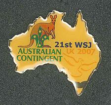 2007 World Scout Jamboree AUSTRALIA SCOUTS Contingent Metal Pin Patch