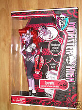 "NIB Mattel MONSTER HIGH Phantom Doll OPERETTA w/ Memphis ""Daddy O"" Longlegs HTF"