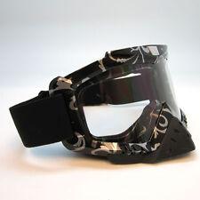 NEW Motocross Motorcross MX BMX Bike Snow Goggles Black Silver w/ Fog Evader