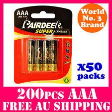 200PCS Super Alkaline AAA Batteries PAIRDEER Battery AAA 1.5V Bulk Buy