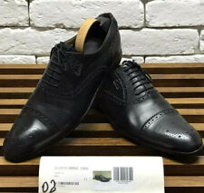 Authentic GUCCI dress formal brogue size 11 fits 12 US 45 EUR black leather