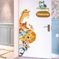Cartoon Animals Kids Wall Stickers Home Decor Wardrobe Door Decal Cute Animal