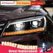 2Pcs For vw passat 2012-2015 Headlights assembly Bi-xenon Lens Projector LED DRL