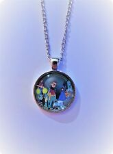 Teen Titans: Group Cast Glass Domed Silver Chained Necklace/Pendant