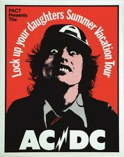 More details for ac/dc ~ poster for 1975 summer vacation tour ~ signed by graeme webber ~ new!!