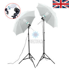 New 2x135W Photo Studio Umbrella Light Stand Bulb Continuous Lighting Lamp Kit
