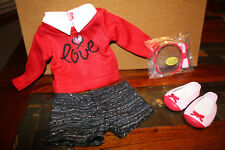 American Girl Grace's CITY OUTFIT Sweater Shorts Headband Shoes New in Box 2015