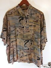 Vintage Citron Of Santa Monica Mens Med Shirt With LA Matchbook Motif