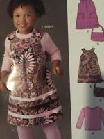 New Look Sewing Pattern 6016 Girls Childs Dress Top Pants Purse Size 1/2-4 Uncut