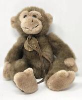 Monkey Stuffed Animal  Russ Jimby  - Vintage Plush Monkey Teddy Bear