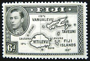 Fiji Stamp 1938-55 6d King George VI Scott # 135 SG261 MINT OG H