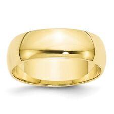 6mm Wide High Polish Wedding Band Size 6.5 14k Yellow Gold