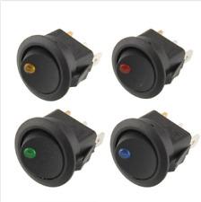 Waterproof  Car 12V Round Rocker Dot Boat LED Light Toggle Switch 4 pcs / Set