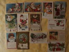 lot 13 cpa Père Noël, Santa Claus, cartes postales anciennes