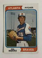 1974 Phil Niekro # 29 Topps Baseball Card Atlanta Braves HOF