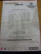 23/11/2006 Colour Teamsheet: Newcastle United v Celta Vigo [UEFA Cup]. Trusted s