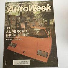 February 8, 1982 Autoweek Lamborghini Urraco Espada The Scorch Formula One '82
