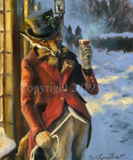 More details for mick cawston 'here's to you sir'. funny widlife fox, fine art print