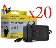 Lot of 20 New Ac Adapter for Nes, Snes & Genesis Systems