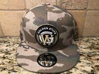 GOLDEN ST. WARRIORS NEW ERA 9FIFTY SNAPBACK CAMO MEN'S HAT CAP SHIPS IN A BOX!!