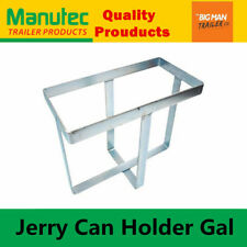 Manutec Jerry Can Holder Galvanised plated For Trailer