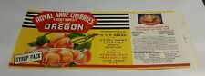 Royal Anne Cherries Label O F P Brand Oregon Fruit Products Co Salem Oregon