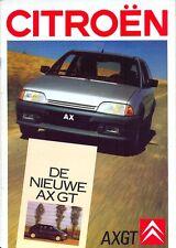 CITROEN AX GT Dutch Market Sales Brochure