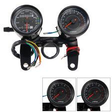 Universal Motorrad LED Tachometer Kilometerzähler Speedometer Drehzahlmesser 12V