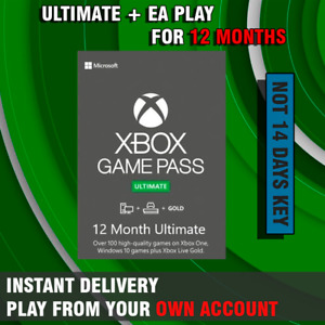 Xbox Game Pass Ultimate + EA PLAY- 12 Months - Fast Delivery