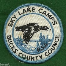 BOY SCOUT CAMP PATCH - SKY LAKES CAMPS - BUCKS COUNTY COUNCIL