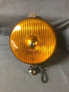 "CLASSIC CAR TRIUMPH MG RILEY WIPAC 6 1/2"" YELLOW LAMP REFURBISHED"