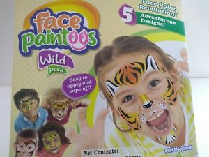 Face Paintoos Wild Pack! Great For Birthdays & Halloween! Sku#69