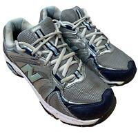 New Balance 506 Cross Training Shoes WX506SB Silver Blue Low Top Lace Women 7