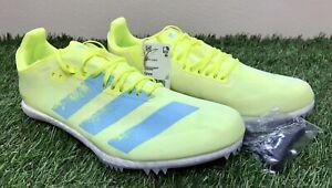 Adidas Adizero Avanti Track & Field Spikes Yellow Aqua FW2246 Men's Size 7.5