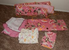 Pottery Barn Kids Emmy Monkey Crib Bedding Set Bedding Bumper Curtains Sheets +