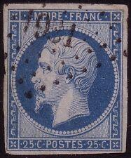 EMPIRE - N°15 - 25c BLEU - COTE 285€.