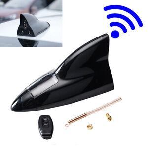 Car Shark Fin Antenna Aerial Solar Energy Remote Control Signal Radio LED Light