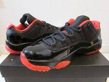 *NEW* Nike Air Jordan 11 low Black Red custom dirty bred Size 8