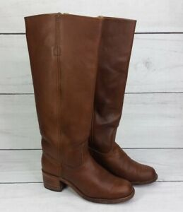 Vintage Frye Leather Campus Boots Brown Tall Riding Boots Size 7.5 B 6505 Womens