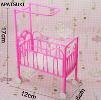 Doll Accessories Baby Bed for Barbie Dollhouse Plastic Super Bed For Kelly Dolls
