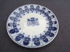 plat rond en porcelaine minton china aster et blason maison toy paris  1