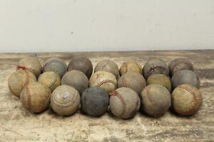 LOT OF 20 Vintage / Antique Baseballs