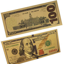 Gold Foil US Banknote 100 Dollar Currency Paper Money collection New version Hot