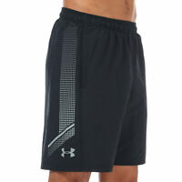 Mens Under Armour Woven Graphic Shorts In Black- Elasticated Ribbed Waist