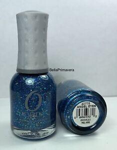 ORLY Nail Polish Angel Eyes 40774 Fine Blue + Large Silver Glitter