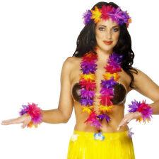 Hawaii Blumen Set 4-teilig NEU - Zubehör Accessoire Karneval Fasching