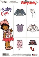 Simplicity Sewing Pattern 8562 Babies Dress Top Shoes Skirt Leggiings Hat XXS-L