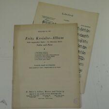 FRITZ KREISLER ALBUM for violin / piano
