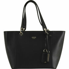 GUESS Kamryn Burgundy Saffiano Leather Tote Bag